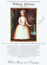 This portrait could be a painting of one of Dr. William Denune's daughters.