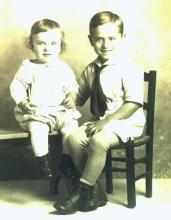 Baby brother, John B Denune (my father), and big brother Harry Case Denune