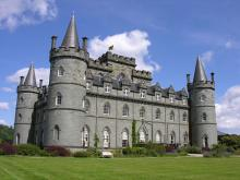 Inveraray Castle, the Duke of Argyll's pad
