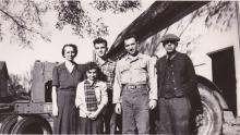 "John, Harry & Margaret, children of L. L. ""Jack"" Denune & Barbara (E. Thomson) Denune"