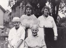 Sthepamie (Beck) Frison, Barbara Theresa (Frison) Thomson & great aunt Alice with her son Bill Barton