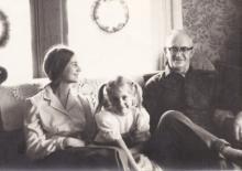 Charles C. Brohard and 2 of his granddaughters, Patty & Barbara Bender