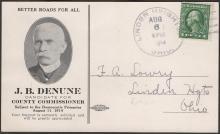 J B Denune Political Postcardv