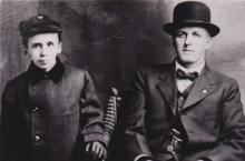 John Evans and his son, Edwin Alfred Evans