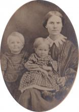 Lucretia (Case) Ferris & 2 of her children